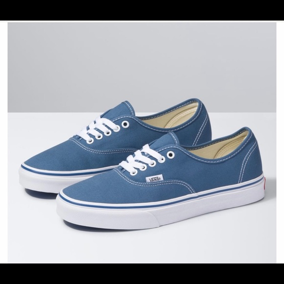 Vans Classic Blue White Canvas Sneakers